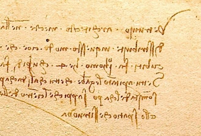 Leonardo Da Vinci - handwriting
