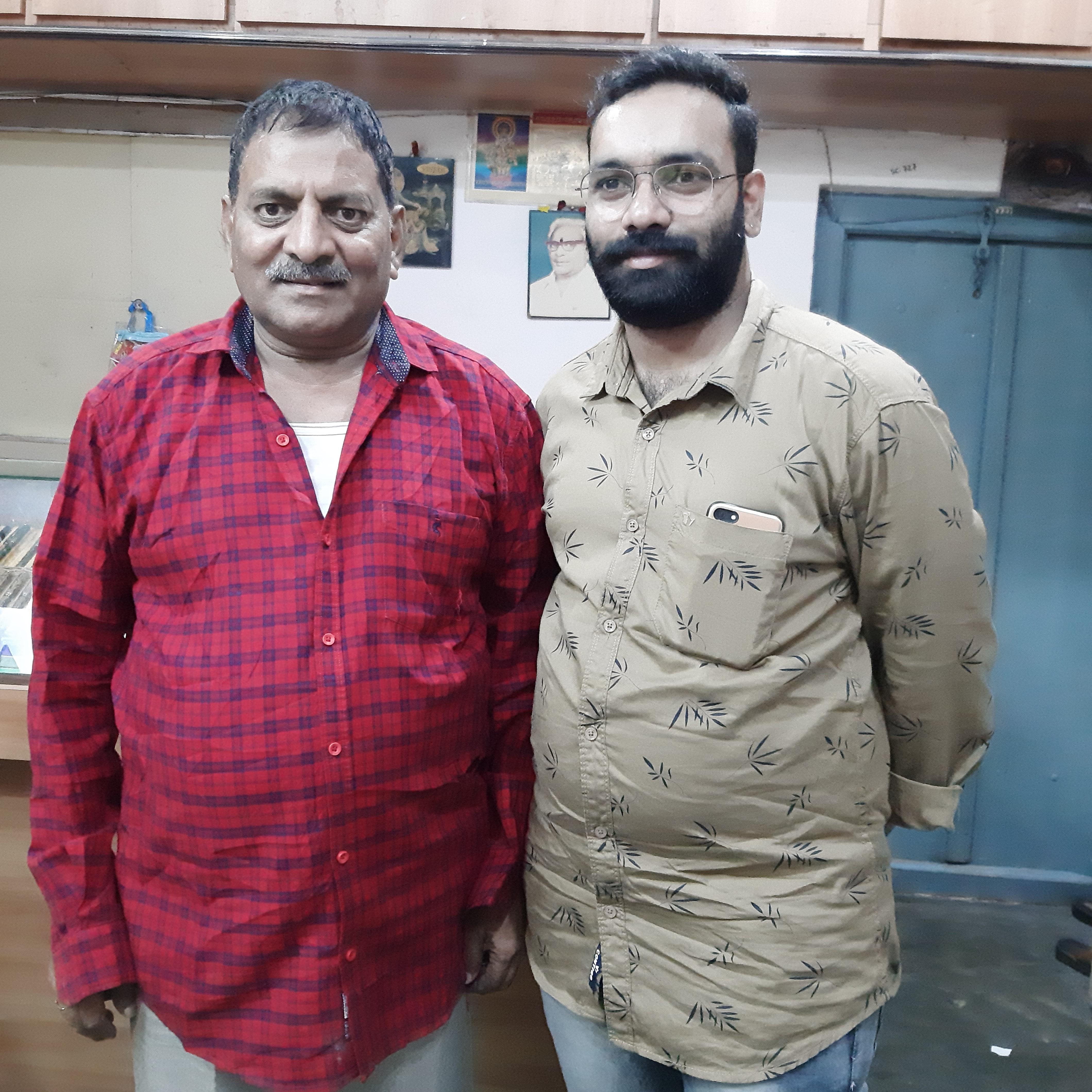 Shreyas Yedla with Gangumalla Lakshman Rao